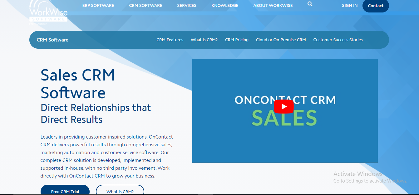 Oncontact CRM